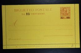 Italia: Biglietto Postale  Mi  K 9 1903 - Postwaardestukken
