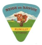 Etiquette Fromage Portion  Neige De Savoie Rumilly  Hte Savoie  Vache - Fromage
