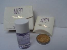 """MUGLER """" ALIEN"""" :RITUEL PRODIGE  MINI CIRE  D'OR + MINI HUILE PARFUMEE  LIRE ET VOIR!! - Miniatures Modernes (à Partir De 1961)"""
