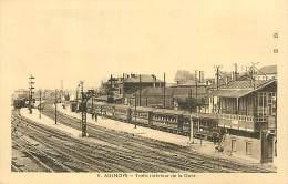 N-16 1479  :  AULNOY LA GARE DE CHEMIN DE FER. TRAIN - Aulnoye