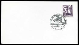 39217) Österreich - Karte - SoST 1150 WIEN Vom 01.12.1972 - Tag Der Briefmarke, Postreitert, Flugzeug - Poststempel - Freistempel