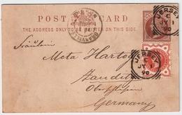"""1890, """" Jersey """" GA Nach Dtld. , #6217 - Briefe U. Dokumente"""