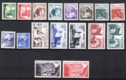 TGC/ Tunisie N° 366 à 382  Neuf  XX  MNH , Cote :  31,00 € , Album 12 - Tunisia (1888-1955)