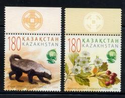 KAZAKHSTAN 2009, FAUNE RATEL, BAIES ET FLEURS, 2 Valeurs, Neufs / Mint. R2165 - Kazakhstan