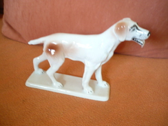 Porcellan-Figur Setter Hund   (302) - Ceramics & Pottery