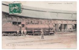 CPA 02 TERGNIER / LA ROTONDE / ANCIEN TRAIN ANIMEE / 1908 - France