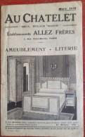 Rare Catalogue Meubles Au Chatelet - Mars 1930 - Établissements Allez Frères - Ameublement Literie Paris - Pubblicitari
