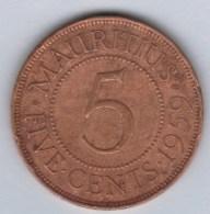 MAURICE  5 R  1959   **2 Scannes - Mauritius