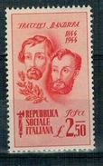 RSI 1944 FRATELLI BANDIERA 2,50 LIRE ** MNH - 1944-45 République Sociale