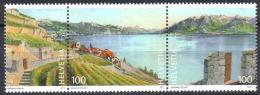 Zu 1397-1399 / Mi 2221-2223 UNESCO Lavaux ** / MNH - Switzerland