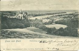 GRUSS VOM RHEIN   Drachenburg Und Der Rhein  1904 - Koenigswinter