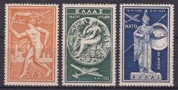 GRECIA 1954 - Serie Nueva Sin Fijasellos Yvert Nº A66/A68 Cat. 120 € -MNH- - Airmail