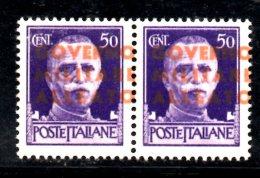 T39 - NAPOLI ANGLO AMERICANA 1943 : Il N. 12a Coppia (spst Carnicino Chiaro) ***  MNH . - Occup. Anglo-americana: Napoli