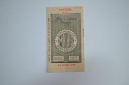 Dépliant Mathis Prix Différents Modèles Saison 1928 - Autres Collections