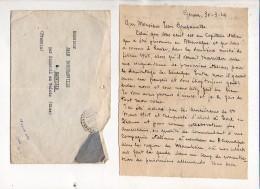 Militaria Genova 1946,Lettre à Jean Bouchanville De Emeville 60 D'un Capitaine Italien Qui A été Prisonnier En Allemagne - Documents
