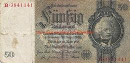 1933 Fünfzig Reichsmark 50 - [ 3] 1918-1933 : République De Weimar