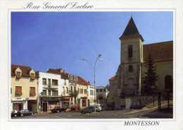 78 -MONTESSON- Rue Général LECLERC-animée,voitures ,Pharmacie,Tabac,,,,, - Montesson