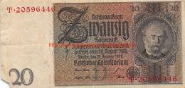 1929 Zwanzig Reichsbanknote 20 - [ 3] 1918-1933 : République De Weimar