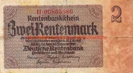 Zwei Rentenmark 1937 - [ 3] 1918-1933 : République De Weimar