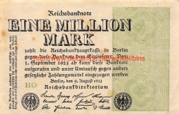 Eine Million Mark 1923 - [ 3] 1918-1933 : Weimar Republic