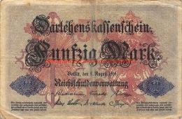 Fünfzig Mark 50 1914 Reichschuldenverwaltung - [ 2] 1871-1918 : German Empire
