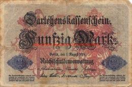 Fünfzig Mark 50 1914 Reichschuldenverwaltung - [ 2] 1871-1918 : Empire Allemand