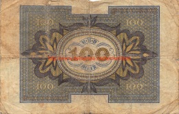 Hundert Mark 100 Reichsbanknote 1920 - [ 3] 1918-1933 : République De Weimar