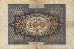 Hundert Mark 100 Reichsbanknote 1920 - [ 3] 1918-1933 : Weimar Republic