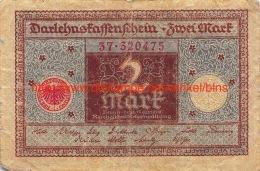 2 Mark Zwei 1920 - [ 3] 1918-1933 : República De Weimar