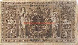 Ein Tausend Mark 1000 1910 - [ 2] 1871-1918 : Empire Allemand