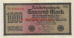 Tausend Mark 1000 Reichsbanknote 1922 - [ 3] 1918-1933 : République De Weimar