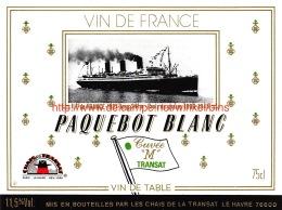 """Paquebot Blanc Cuvée """"""""M"""""""" Transat - Bateaux"""