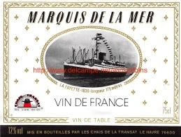 Marquis De La Mer - La Fayette 1930 - Bateaux