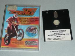 Ancien Jeu SUPER SCRAMBLE Simulator AMSTRAD Schneider CPC Disk Disquette Collector Vintage Retrogaming Retro Gaming 1989 - Jeux PC
