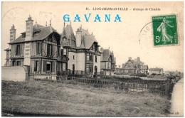 14 LION-HERMANVILLE - Groupe De Chalets   (Recto/Verso) - Autres Communes