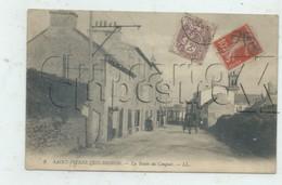 Brest (29)  : La Route Du Conquet Dans Le Quartier De Saint-Pierre-Quilbignon En 1909 (animé, Attelage) PF. - Brest