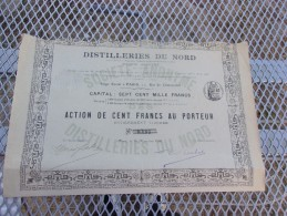 DISTILLERIES DU NORD Compagnie Française Des Alcools Dénaturés (1908) - Shareholdings