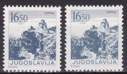 YUGOSLAVIA 1983. Definitive, MNH (**), Mi 1995 A, C - 1945-1992 Sozialistische Föderative Republik Jugoslawien
