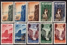 Réunion N° 262 / 80   X  La Série Courante Des 19 Valeurs  Trace De Charnière Sinon TB
