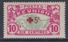 Réunion N° 82  X  Au Profit De La Croix-Rouge : + 5 C. Carmin Sur 10 C. Rose Et Vert Trace De Charnière  Sinon TB