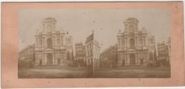 Photo Originale Stéréo  XIXème Paris Saint Roch - Stereoscopic