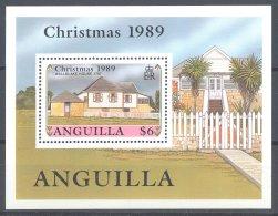 Anguilla - 1989 Christmas Block MNH__(TH-16931) - Anguilla (1968-...)