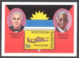 Antigua - 1992 Inventors Block (1) MNH__(TH-17140) - Antigua Et Barbuda (1981-...)