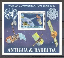 Barbuda - 1983 World Communication Year Block MNH__(TH-16635) - Antigua And Barbuda (1981-...)