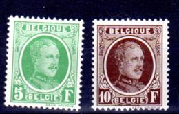 209 / 210 ** Albert 1er, 5 Et 10 Francs Houyoux,TB Sans Charnière Postfrich , Cote2019= 435 €, - België
