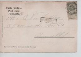 TP Armoiries S/CP De Moresnet C.Verviers (Ouest) 5/10/1907 + Griffe Encadrée Moresnet V.Bruxelles PR3526 - Postmark Collection
