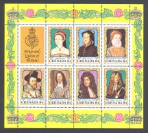 Grenada - 1984 Monarchs Block (4) MNH__(THB-3639) - Grenada (1974-...)