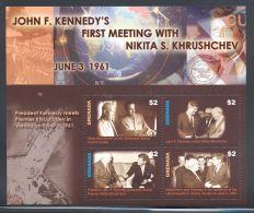 Grenada - 2007 John F. Kennedy Kleinbogen (2) MNH__(THB-5603) - Grenade (1974-...)
