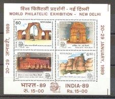 India - 1987 Buildings Block MNH__(TH-17466)