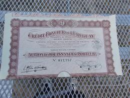 CREDIT FONCIER DE L´URUGUAY (action De Jouissance) 1927 - Shareholdings